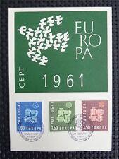PORTUGAL MK 1961 EUROPA CEPT TAUBE PIGEON MAXIMUMKARTE MAXIMUM CARD MC CM c4170