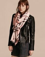 BURBERRY Lightweight Check Wool And Silk Gauze Giant Scarf New W/ Tags RRP £275