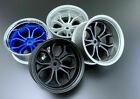 Tetsujin 1/10 Wheels DEEP SPIDER Rims Adjustable Offset 3-6-9mm -WHITE- (4 PC)