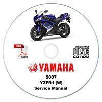 Yamaha YZF-R1 (W) 1000cc 2007 Service Manual CD