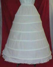 6 Bone Hoop Cotton Bridal Petticoat Wedding Slip Skirt
