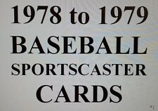 1978-79 BASEBALL Sportscaster cards $0.99 ea - Many Different - YOU PICK!!