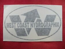 West Coast Hydrographix Sticker Decal Motorcycle Racing