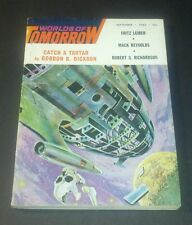 WORLDS OF TOMORROW September 1965 Vintage Pulp Sci Fi