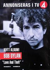 Bob Dylan 2001 Love and Theft Original Swedish Promo Poster