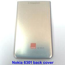 100% Genuine Original Nokia 6301, 6300 Back Battery Cover Fascia Housing -Silver