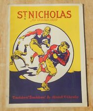 St Nicholas Magazine for boys and girls vintage 1929 October football