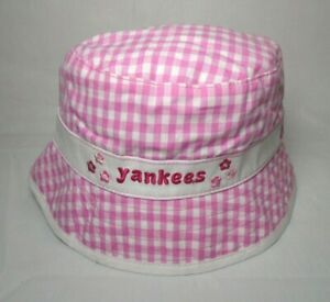 New York Yankees Girl's Infant New Era Pink Bucket Hat