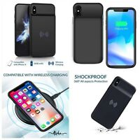Iphone X 10 Qi Wirless Charger Battery Case Extended Battery Backup Power Backup