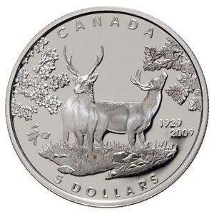 80th Anniversary of Canada in Japan - 2009 Canada $5 Sterling Silver Coin
