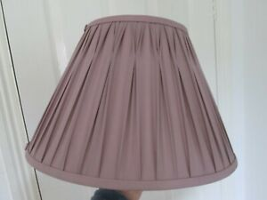"""Laura Ashley Mauve Amethyst Pinched Pleated Lampshade Used 14"""" base across"""