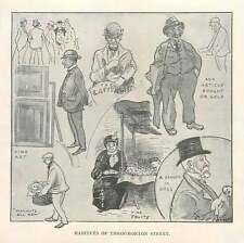 1904 Characters In Throgmorton Street, Walnuts, Fruits, Dog Seller