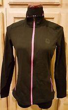 Ralph Lauren 203604310001 Black/Pink Colorblock Full Zip Jacket w/Pockets S $115