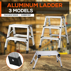 2 3  STEP LADDER PLATFORM MULTI PURPOSE FOR  HOUSEHOLD OFFICE FOLDABLE NON SLIP