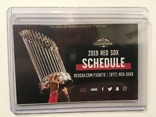 2019 BOSTON RED SOX 1st. EDITION  POCKET SCHEDULE 2018 WORLD SERIES CHAMPIONS