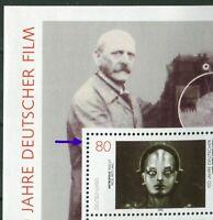 Bund Block Nr. 33 PF I postfrisch Plattenfehler BRD schwarzer Punkt links oben