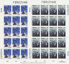 EUROPA CEPT 1997 SAGEN UND LEGENDEN - FÄRÖER FOROYAR 317-18 KLEINBOGEN **
