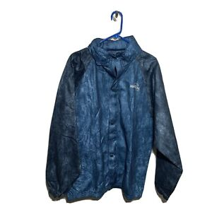 Natural Gear Hunting Hooded Mesh Full Zip Snap Blue Thin Jacket Mens Sz Large L