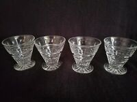 Vintage Set of 4  Footed Fostoria Glass Tumblers