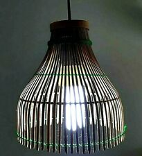Thai Farmhouse Round Rattan/Bamboo Light Hanging Ceiling Lamp Case (CASE ONLY)