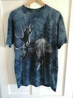 Vintage Look The Mountain USA 2009 Tie Dye Moose Graphic Blue T shirt - Medium