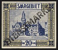 SAARGEBIET, MiNr. D 5 P, sauber ungebraucht, Fotokurzbefund Geigle, Mi. 130,-