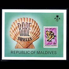 Maldives, Sc #793, MNH, 1979, S/S, RARE SHELLS, 1FSDD