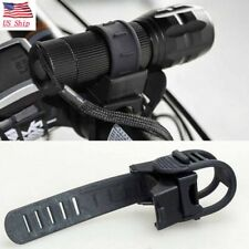 360° Cycling Bike Accessories Bicycle Light Mount Holder Torch Clip Clamp Black