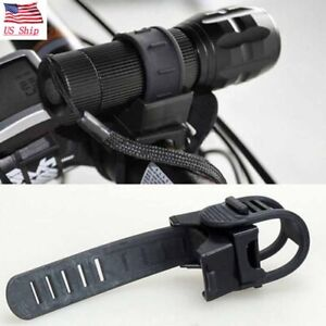 US! Cycling Bike Accessories Bicycle Light Mount Holder Torch Clip Clamp Black