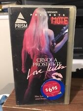 Cry Of A Prostitute lLove Killls  By Parian VHS Rental Box 1976
