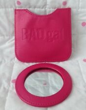 Benefit Round Bad Gal Mirror Compact Pink With Case Wallet Holder
