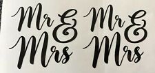 Mr & Mrs Wedding Vinyl Stickers Car Vehicle Window Decal Cards Silhouette Crafts