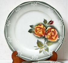 "4 Assiettes plates ""Odile"", Digoin Sarreguemines"