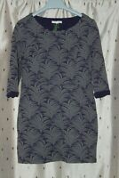 White Stuff Ladies Purple & Grey Cotton Blend Tunic Top With Stretch ~ Size 10