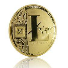Litecoin Sammlermünze, Medaille, Sammelmünze, Crypto Krypto echt vergoldet