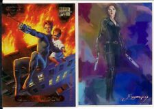 Black Widow Marvel Masterpieces and Ed Vela Limited Edition 43/50 Artist Signed