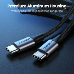 USB Type C-C Fast Charging Data Cable 100W Charger For Samsung Mac allsmartphone