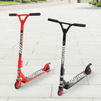 Kids Pro Stunt Scooter Fixed Bar 360 Degree Street Kick Push Aluminum Wheel