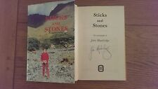 Sticks and Stones Autobiography SIGNED John Hawkridge HB Book 1987 1st Edition *