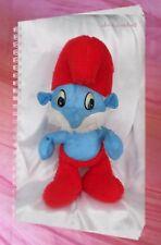 Peluche Doudou Grand Schtroumpf Bleu Et Rouge Vintage 50 cm