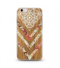 Coque Iphone 7 PLUS Iphone 8 PLUS Effet Bois Marbre Fleur dentelle Blanc Chic