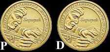 """BRAND NEW"" 2017 P&D Sacagawea Native American Dollars ""BU"" (2 Coin Set)"