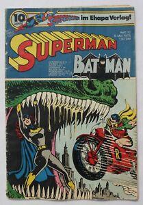 EHAPA / SUPERMAN BATMAN # 10 / 1976 mit Sammler Gutschein