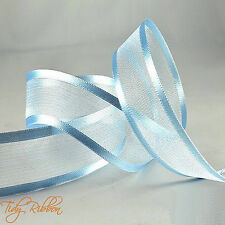 Cut Lengths Satin Edge Organza Ribbon 10mm 15mm 25mm 40mm Crafts Tying