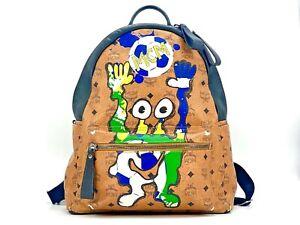MCM Edition Cute Monsters Soccer Stark Rucksack Backpack Medium Logo Print Bag