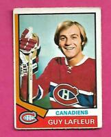 1974-75 OPC # 232 CANADIENS GUY LAFLEUR GOOD CARD (INV# D2664)
