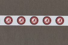 "University Of Alabama Crimson Tide 7/8"" Grosgrain Ribbon 1,3,5,10 Yards"