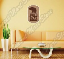 """Grizzly Brown Wild Bear Animal National Wall Sticker Room Interior Decor 16""""X25"""""""