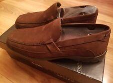 NIB Mens Dr. Scholl's Studio Series Dark Brown Leather Loafer Sz 8.5M