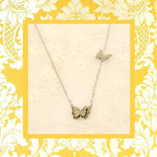 """CC20055 - Eye catching """"silver"""" pendant with 2 butterflies stainless steel pende"""